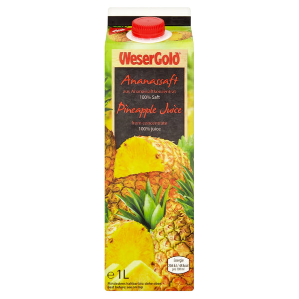 Pineapple Juice 100% -Wesergold 8 x1ltr - LimSiangHuat