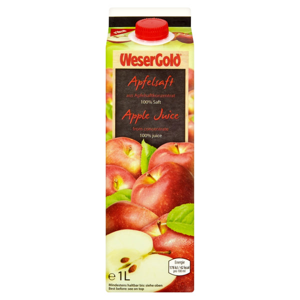 Apple Juice 100% - Wesergold 8x1ltr - LimSiangHuat