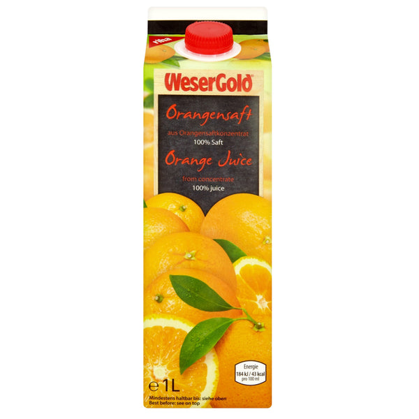 Orange Juice 100% - Wesergold 8x1ltr - LimSiangHuat