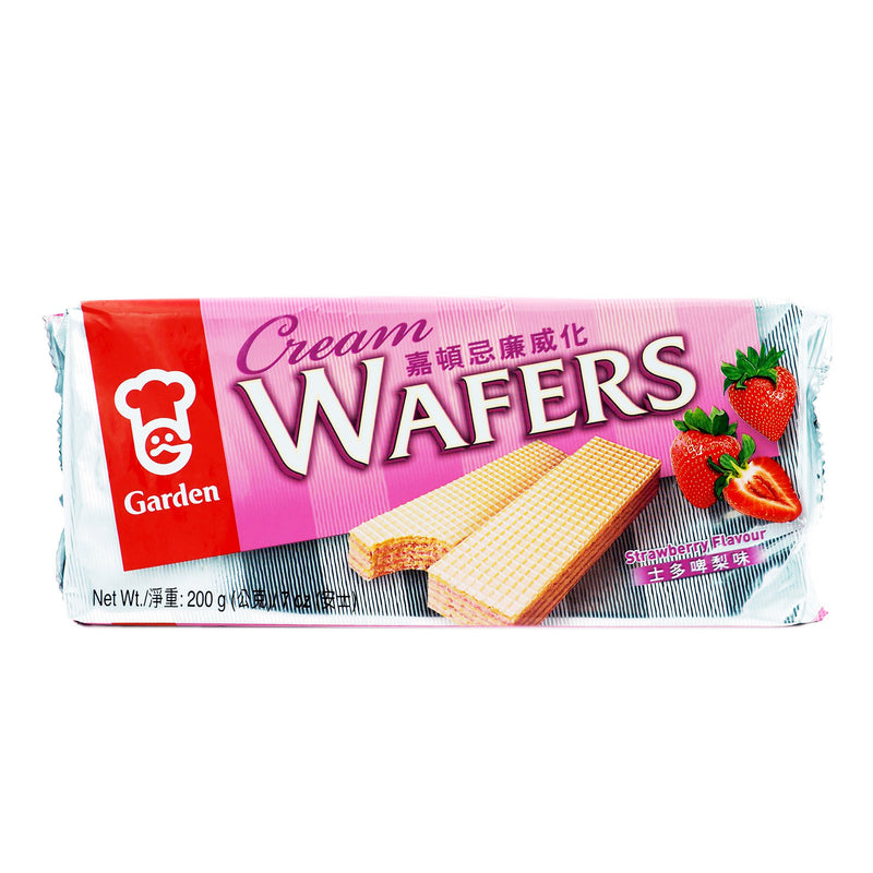 Garden Wafer Strawberry 24 X 200g - LimSiangHuat