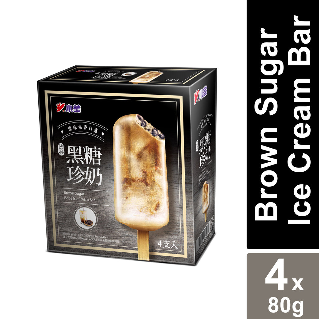 Brown Sugar Boba Ice Cream Bar - XiaoMei (4's x 80g)
