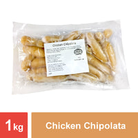 "Chicken Chipolata (Bacon Cube) (3""- 3.5"") - 12x1kg"