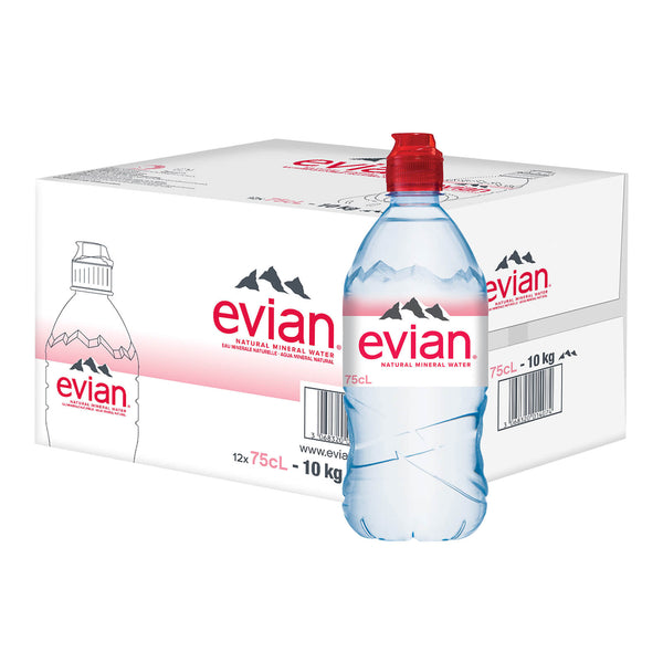 Evian Mineral Water 12sx750ml