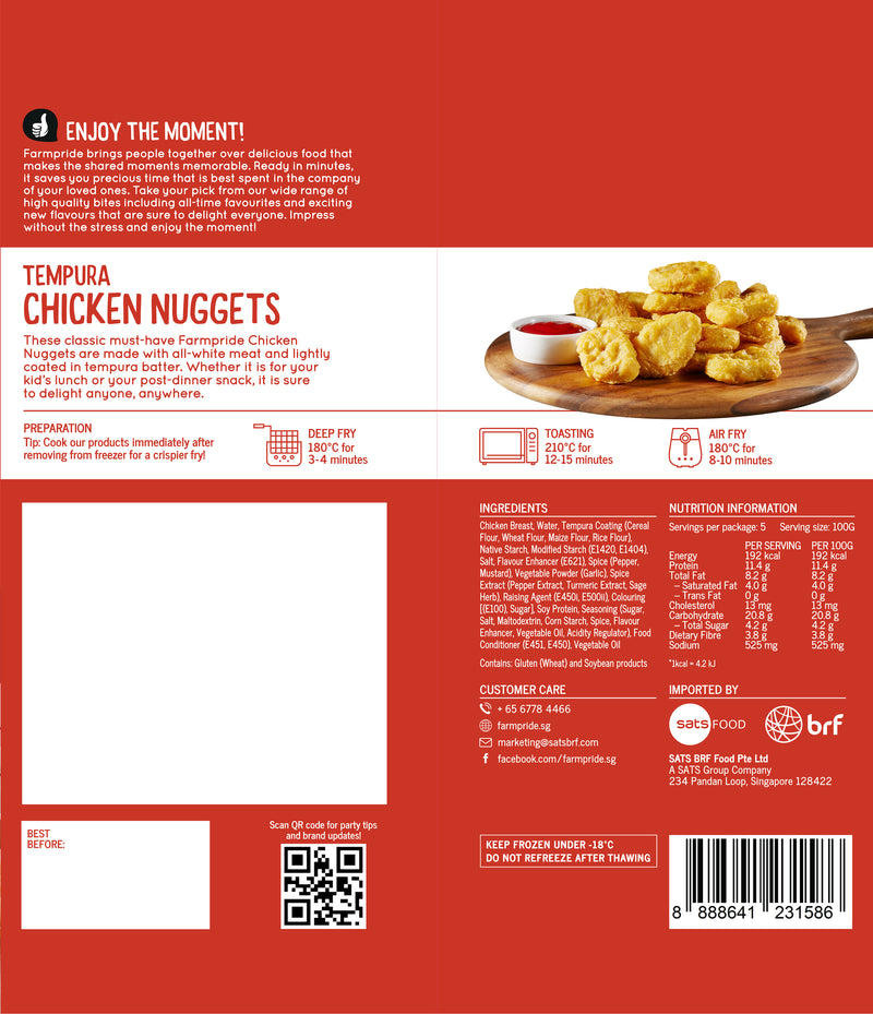 Chicken Nuggets Farmpride 500g - LimSiangHuat