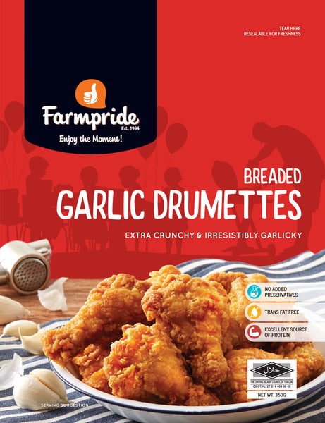 Breaded Garlic Drumettes Farmpride 350g - LimSiangHuat