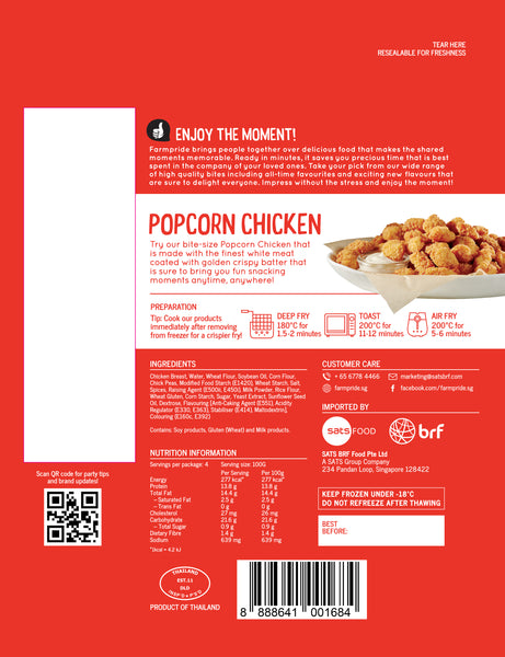 Chicken Popcorn Farmpride 400g - LimSiangHuat