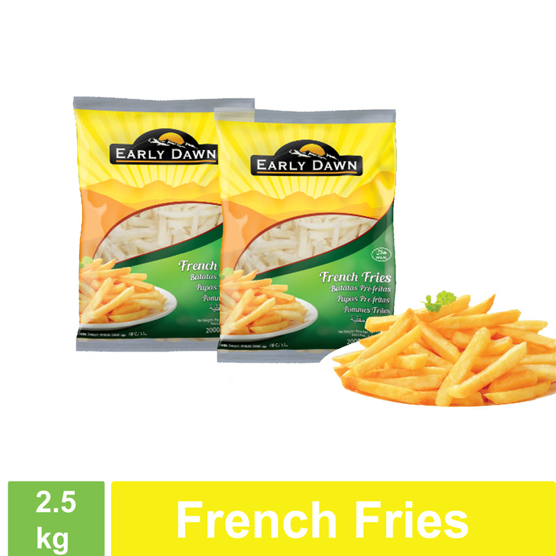Frozen French Fries - Early Dawn 4x2.5kg