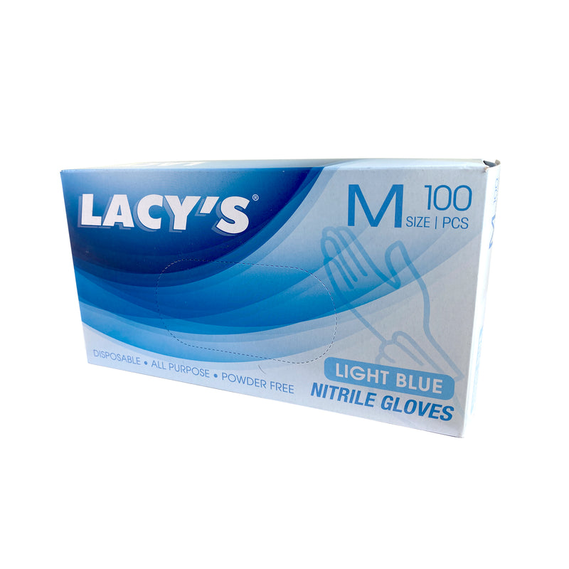 LACY's Blue Powder Free Nitrile Gloves (M) - LimSiangHuat