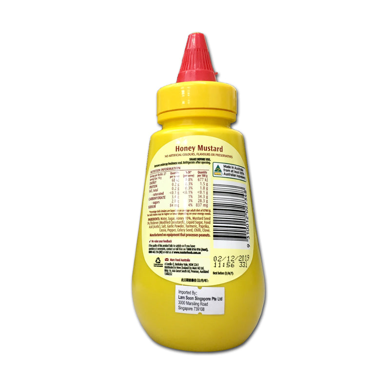 Honey Mustard Squeeze - Master Foods 6x275g - LimSiangHuat