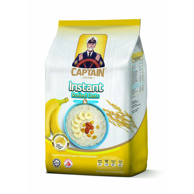 Instant Rolled Oats (YELLOW) - Captain Oats 12 X 800G