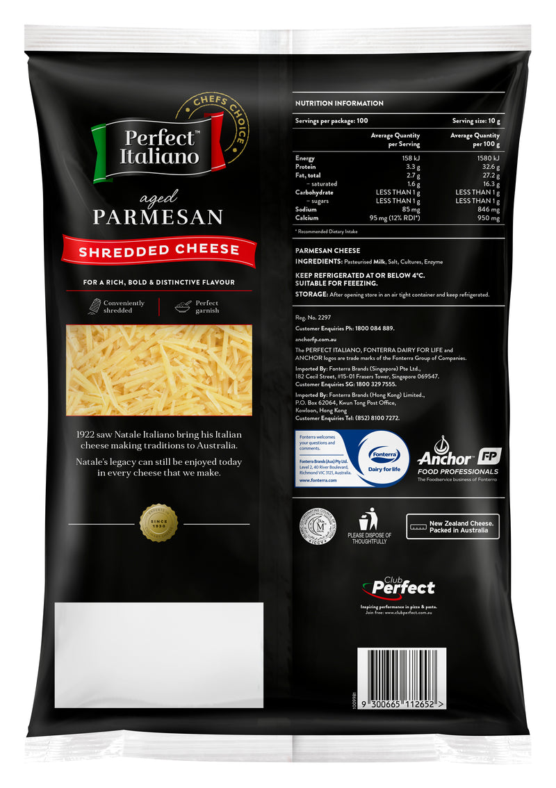 Perfect Italiano Parmesan Shredded - 6x1kg