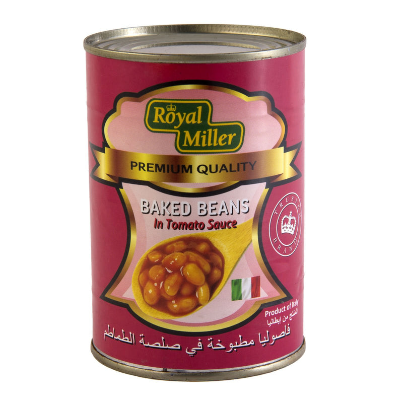 Baked Beans in Tomato Sauce  Royal Miller 400g - LimSiangHuat