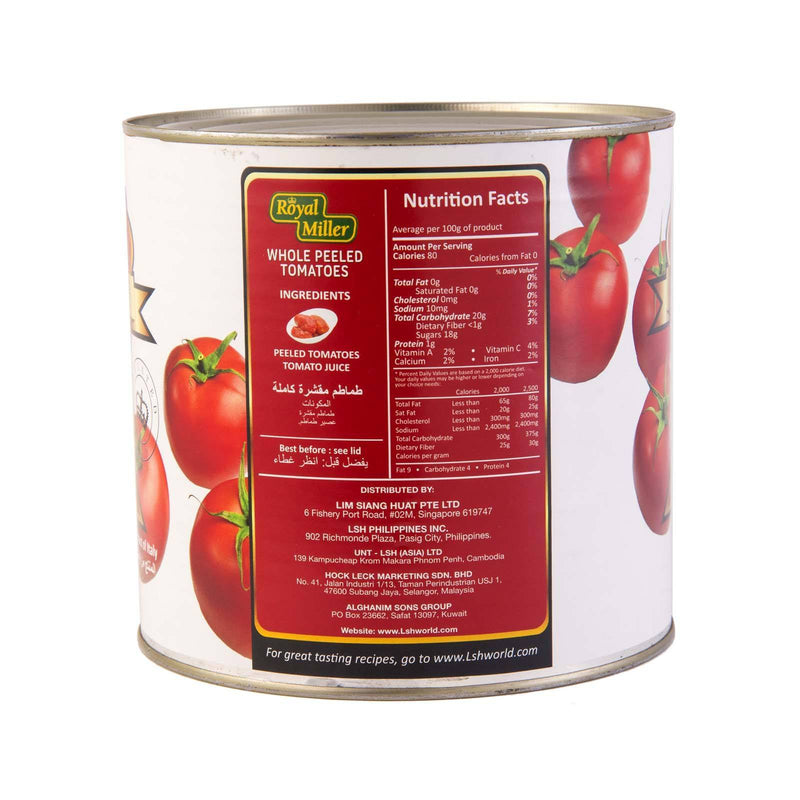 Tomato Whole Peeled Royal Miller 2.55kg - LimSiangHuat