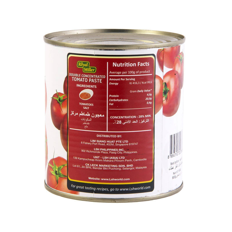 Double Concentrated Tomato Paste Royal Miller 800gm - LimSiangHuat