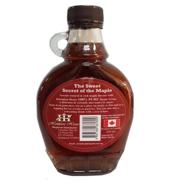 100% Pure Canadian Maple Syrup Hampton House 250ml - LimSiangHuat