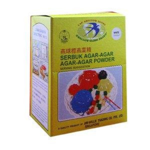 Agar Agar Powder(White)-Swallow Globe 24x(12sx12g) - LimSiangHuat
