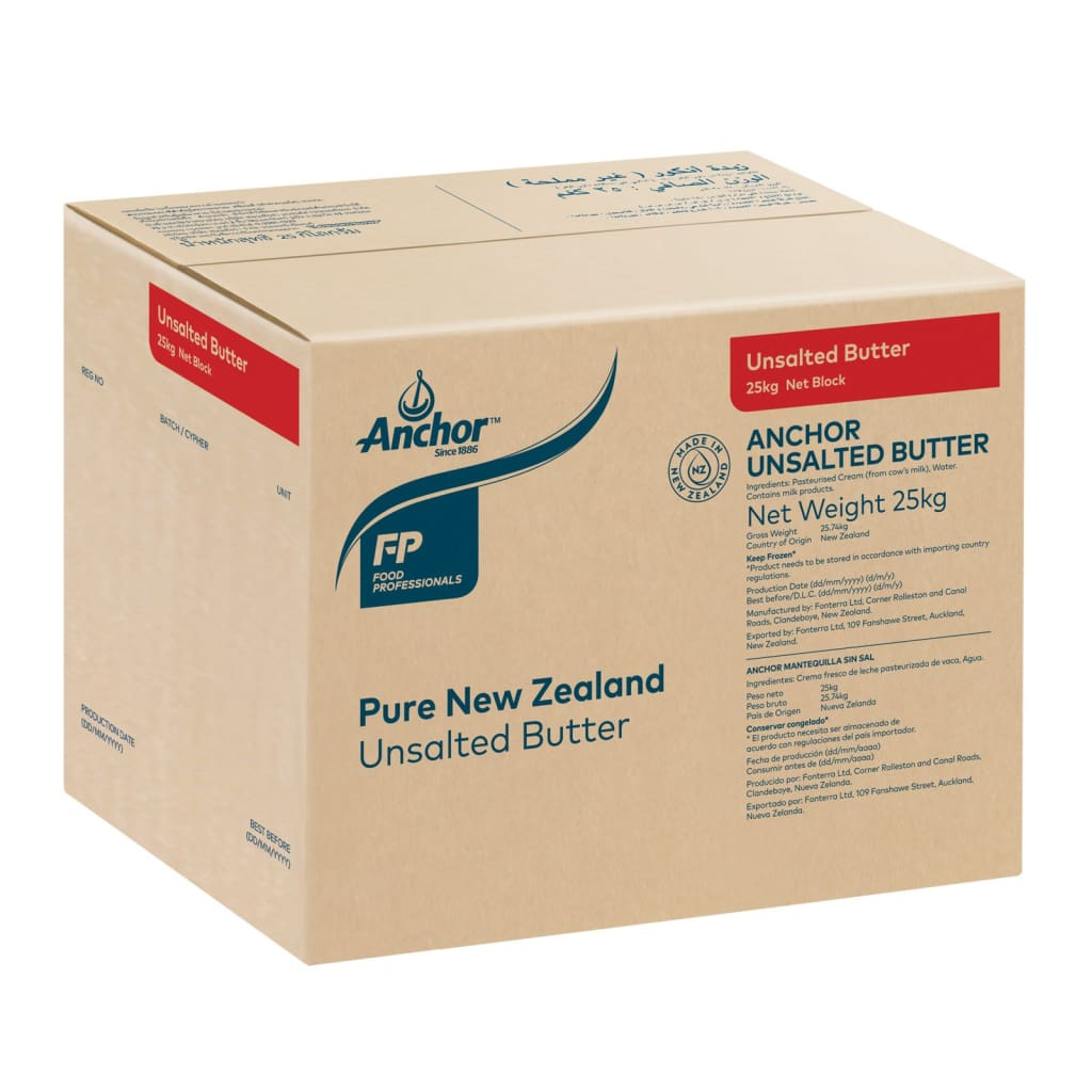 Anchor Unsalted Butter 25kg - LimSiangHuat