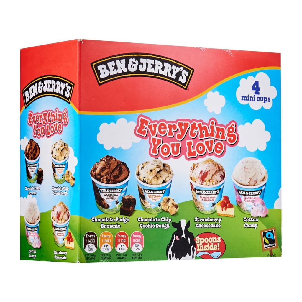 Ben & Jerrys Everything You Love Multipack Ice Cream 6X(4X120ml) - LimSiangHuat