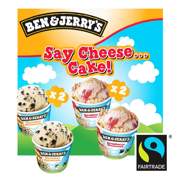 Ben & Jerrys Say Cheese Cake Multipack 6X(4X120ml) - LimSiangHuat