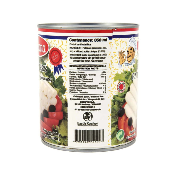 Heart Of Palm -Tabana 12X800Gm Canned Vegetable