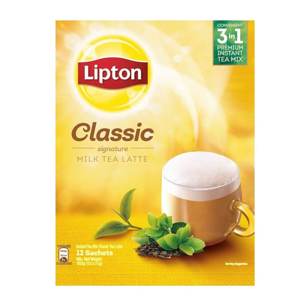 Lipton 3 In 1 Classic Milk Tea Latte 24X(12X21G)