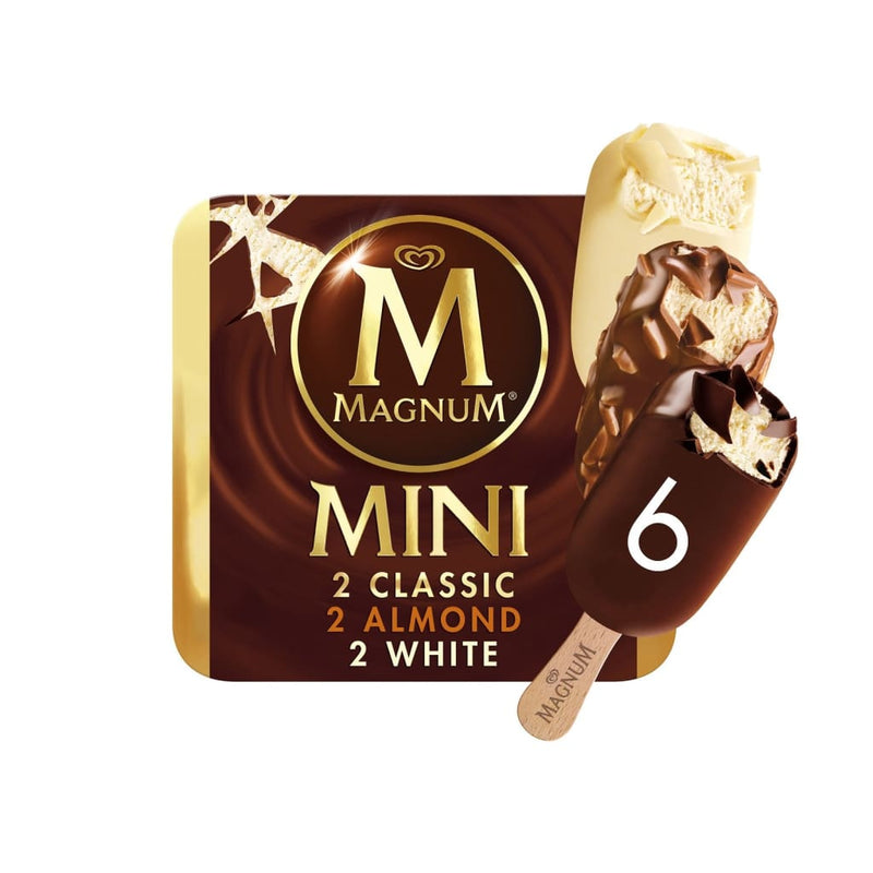 Magnum Mini Classic Almond White Multipack 6X(6X60ML) - LimSiangHuat