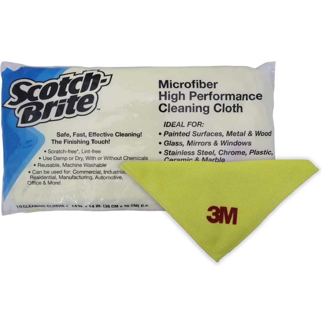3m Microfiber Lens Cleaning Cloth Pack Of 10: Microfiber High Performance Cleaning Cloth Yellow 3M