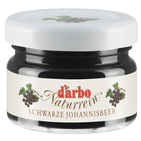 Mini Jar Blackcurrant Fruit Spread Darbo 60X28G Jam