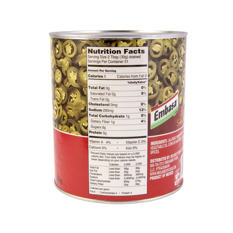 Nacho Sliced Jalapeno Pepper Embasa 2.83kg - LimSiangHuat