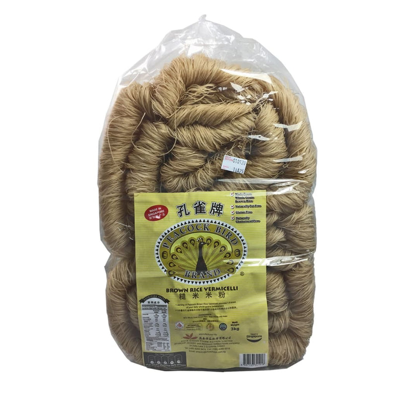 Noodles Brown Rice Vermicelli Peacock 3kg - LimSiangHuat