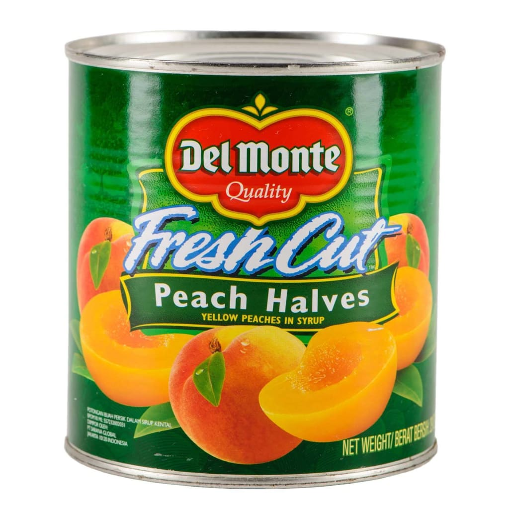Peach Halves Del Monte (12X825G) Canned Fruits