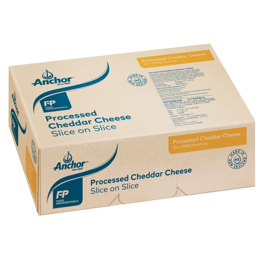 Processed Cheese Pale Slice-On-Slice (84 Slices) Anchor 10X1040G Dairy