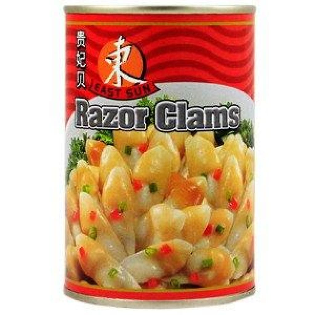 Razor Clams - East Sun 24X425G Canned Meat/seafood