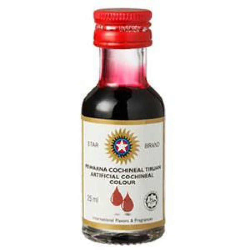 Red(Cochineal) Colouring Liquid-Star 12x25ml - LimSiangHuat
