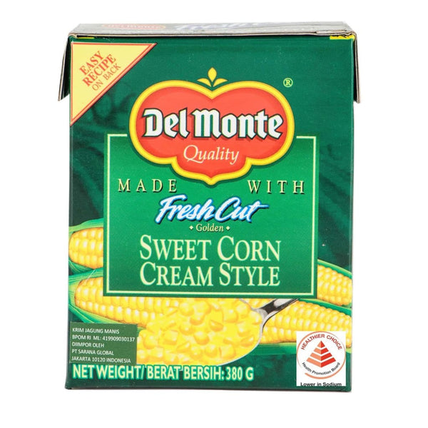 Trc Cream Style Corn 24 X 380G Del Monte Canned Vegetable