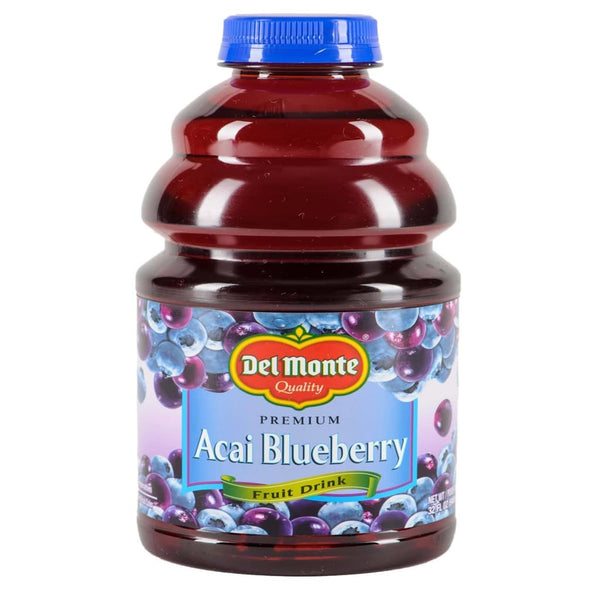 Us Acai Blueberry Fruit Drink 12X946Ml(32Oz) Del Monte Juice
