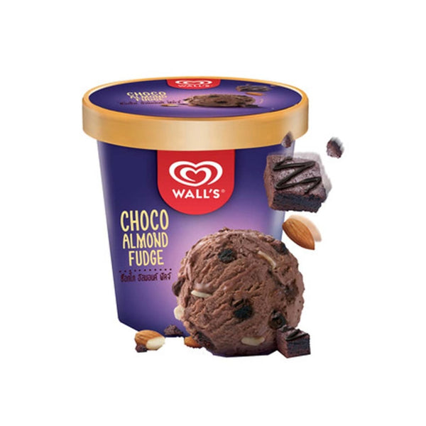 Walls Tub Choco Almond Fudge Ice Cream 6X750Ml