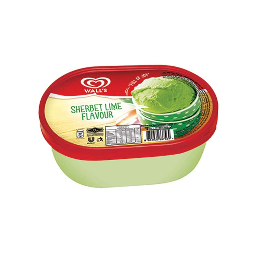 Walls Tub Sherbet Lime Ice Cream 4X1500Ml