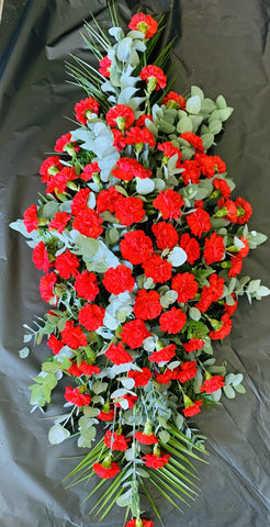 Carnation Double Ended Coffin Spray