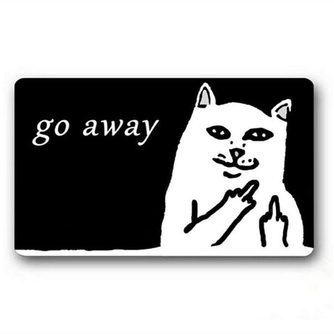 Funny Sarcasm Go Away Floor Mat Doormat Carpet >>>FREE SHIPPING<<< - 247onlinemall