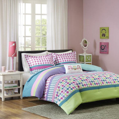 Multicolored  4-piece Comforter Set   FREE SHIPPING - 247onlinemall