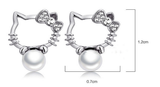 Hello Ketty Pearl Ear Stud Earring < FREE SHIPPING > - 247onlinemall