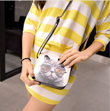 Cat Wearing Glasses Print Messenger Handbag FREE SHIPING - 247onlinemall