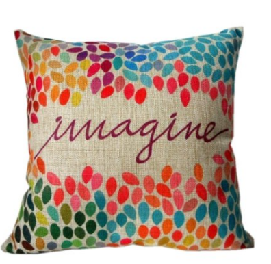 "Decor Throw Pillow Case Cushion Cover Colorful Imagine 18"" - 247onlinemall"