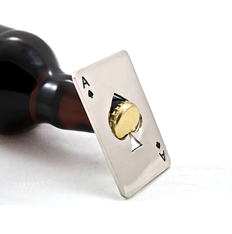Card Poker Ace of Spades keychain can jar opener - 247onlinemall - 1