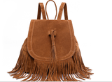 Backpack Faux Suede Leather