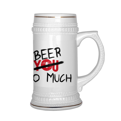 I Love BEER Stein Humor Funny   FREE SHIPPING - 247onlinemall