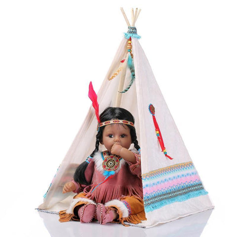 Popular  Native American Indian Reborn Baby Collection Doll With The Tent - 247onlinemall - 1