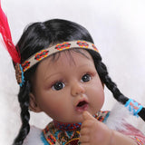 Popular  Native American Indian Reborn Baby Collection Doll With The Tent - 247onlinemall - 3