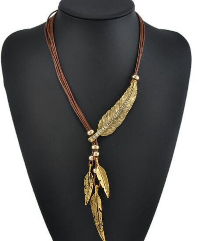BOHEMIAN ROPE FEATHER NECKLACE - 247onlinemall - 4